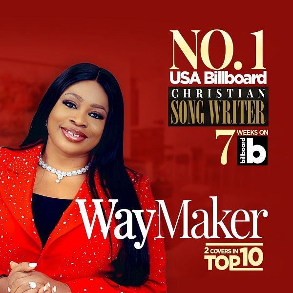 Sinach Becomes First African Gospel Singer Top US Billboard Charts