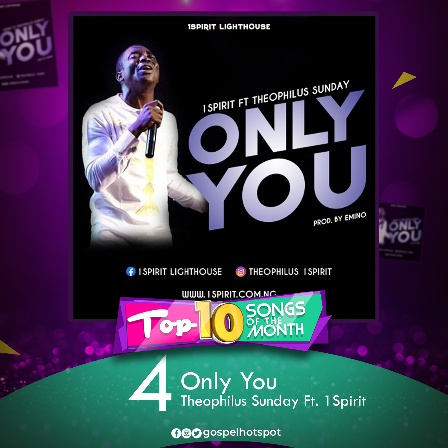Only You – Theophilus Sunday Ft. 1Spirit