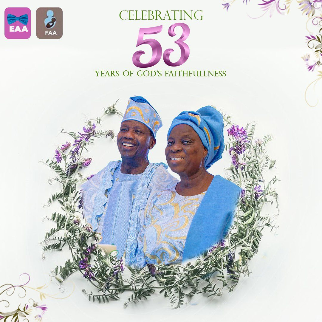 Pastor Enoch & Folu Adeboye Celebrates 53rd Wedding Anniversary