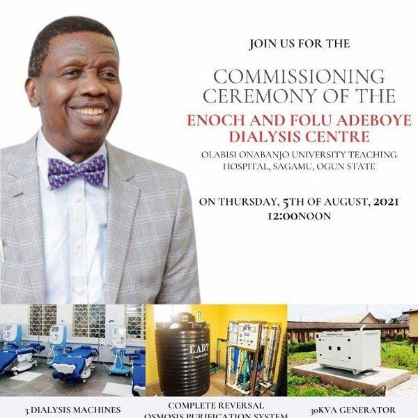 Enoch & Folu Adeboye Dialysis Centre