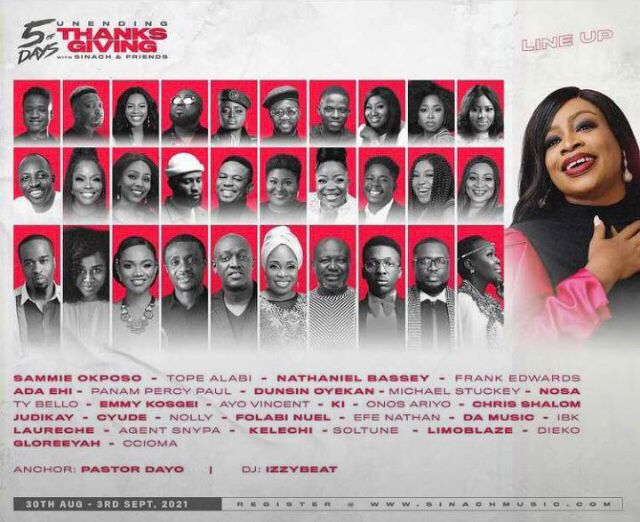 5 Days Of Thanksgiving With Sinach & Friends