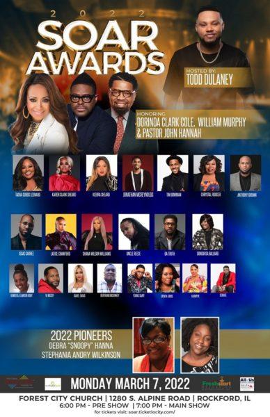 Other international Gospel music ministers billed for the award ceremony include Tasha Cobbs Leonard, Karen Clark Sheard, Kierra Sheard, Tim Bowman, Jonathan McReynolds, William Murphy, Da Truth, Anthony Brown, and more.