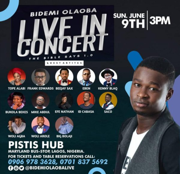 Bidemi Olaoba Live In Concert
