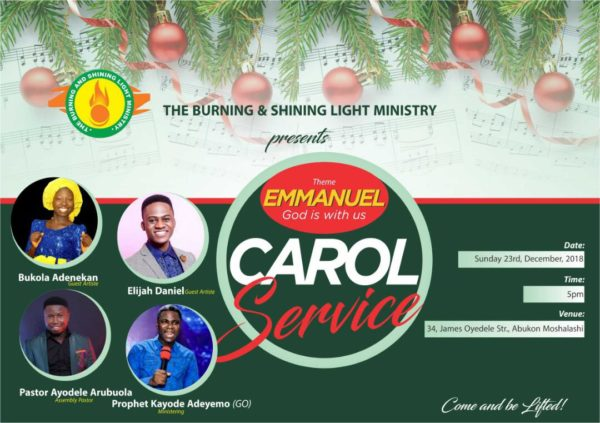 Light Citadel Christmas Carol 2018 | Theme: 'Emmanuel, God Is With Us'