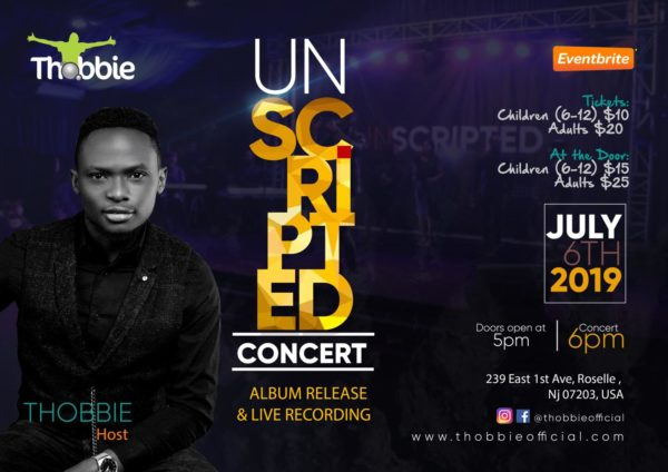 Unscripted Concert With Thobbie